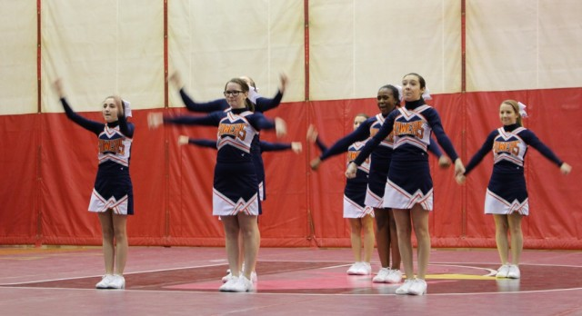 Powers Catholic High School Girls Varsity Competitive Cheer finishes 8th place