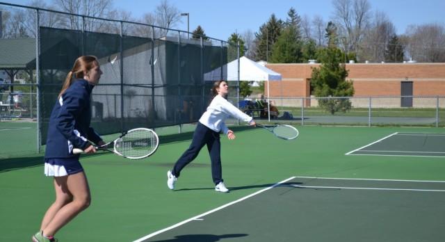 Powers Catholic High School Girls Varsity Tennis beat University Liggett High School 5-3