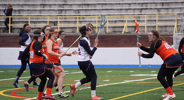 Powers Catholic High School Girls Junior Varsity Lacrosse beat Fenton High School 10-2