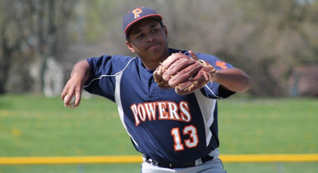 Powers Catholic High School Varsity Baseball beat Midland Dow H.S. 2-1