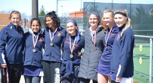 Powers Catholic High School Girls Varsity Tennis beat Davison High School 7-1