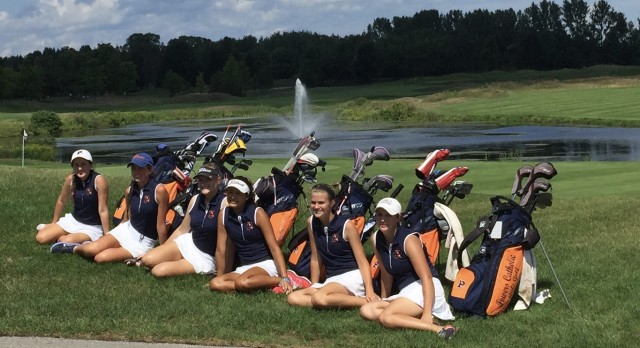 Powers Catholic High School Girls Varsity Golf finishes 2nd place