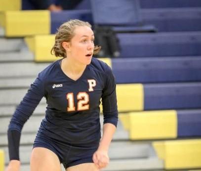 Powers Catholic High School Girls Varsity Volleyball beat Carman-Ainsworth High School 3-0
