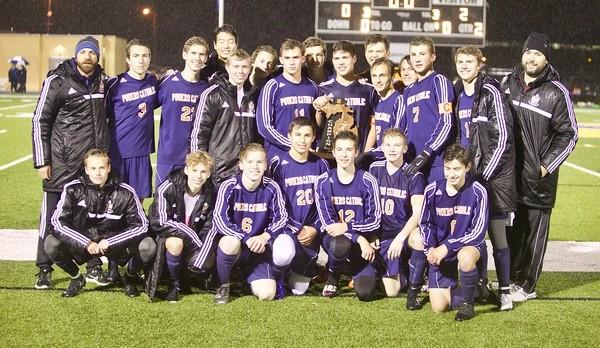 Powers Catholic High School Boys Varsity Soccer beat Clawson High School 2-0