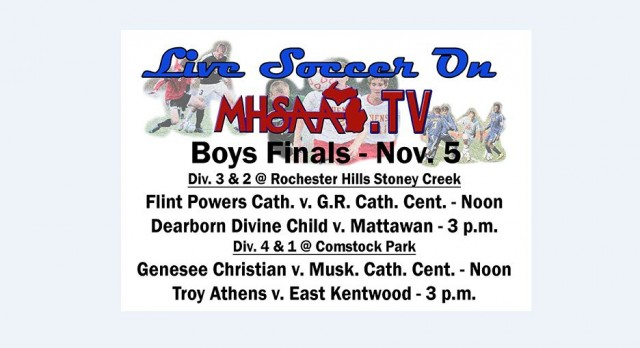 Listen or Watch the Soccer State Finals Live Online Tomorrow!