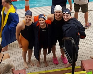 Kirtek, Murawski, Lawrence, and Dasky qualify for the Sate Meet in the 200 Medley Relay
