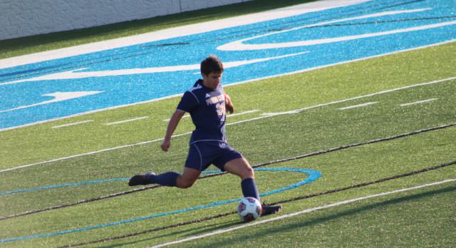Powers Catholic High School Boys Varsity Soccer beat Bay City Western High School 3-0