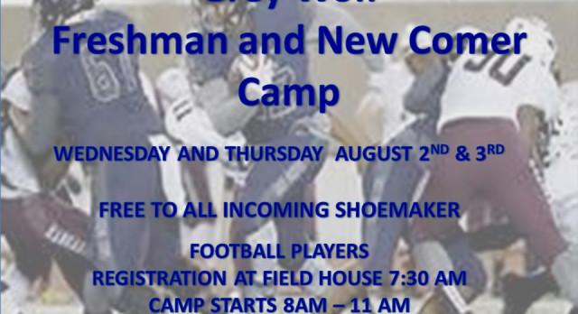 Shoemaker Freshman Football Camp