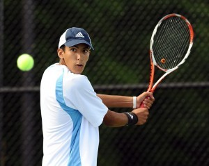 Fajr Najib was one of several Skyline players to win their first match and advance in the MHSAA State tournament.