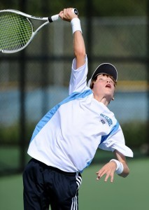 Freshman Jason Kerst played #1 singles for the Eagles.