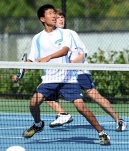 Luke Cheng and Alex Kaldjian were in step as they won their first match.