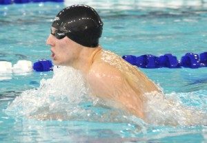 Skyline's Matt Orringer swims in the A Final of the 200 IM at the D2 State boys swim finals at the Holland Aquatic Center. (Cory Olsen   MLive.com)