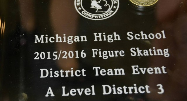 Figure Skating Team is District Champions, Level A!