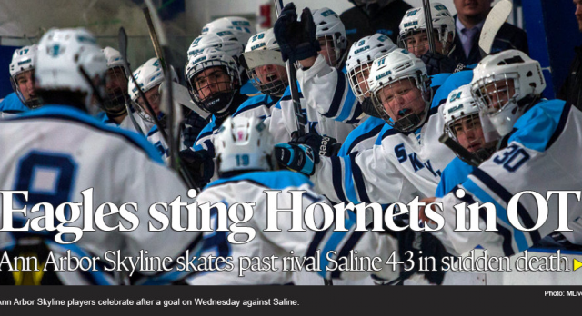Lippert brothers lead Ann Arbor Skyline past Saline 4-3 in OT