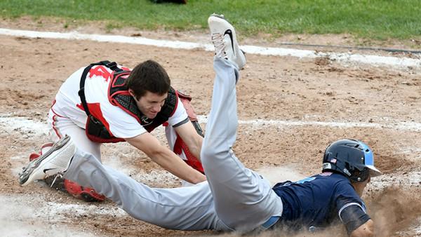 Skyline High School vs Bedford High School varsity baseball at Bedford High School, Wednesday, May 3, 2017.