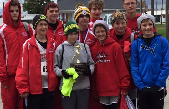 Middle School Boy's Cross Country captures PTCs while the Girl's finish 3rd