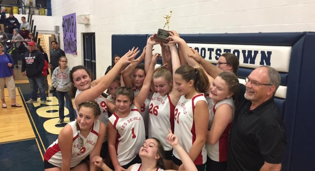 Red Devils 7th Grade Volleyball captures PTC County Division Championship