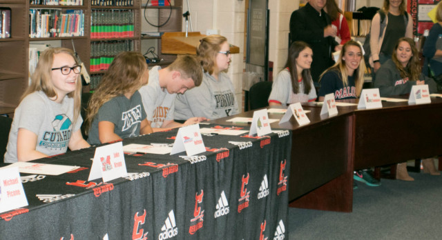 Red Devil College-Bound Athletes celebrated