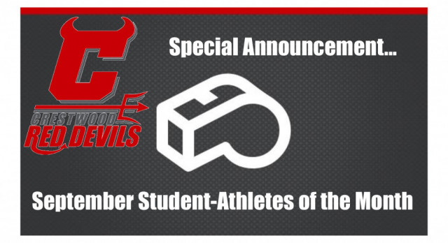 "Red Devil Nation recognizes September ""Student-Athletes of the Month"""