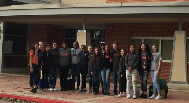 Varsity Basketball Girls Volunteer at Saint PJ's Children's Home