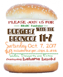 Burgers with the Broncos