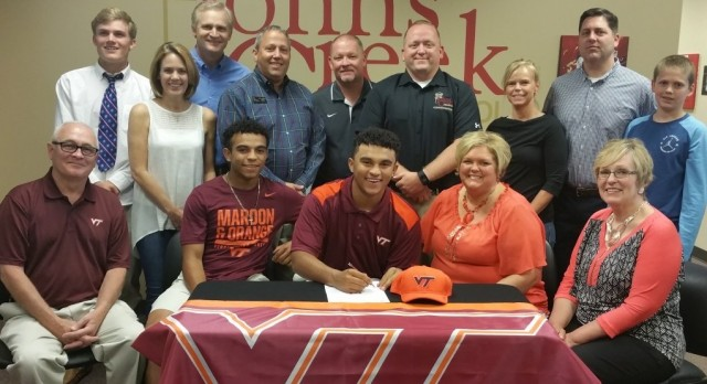 Marcus White signs to play baseball at Virginia Tech