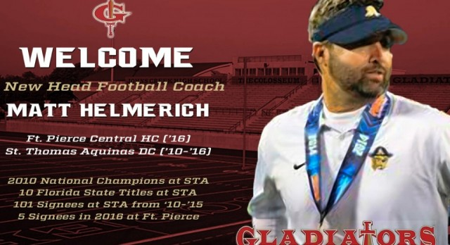 Matt Helmerich named new head football coach at Johns Creek