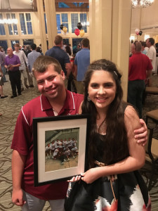 Varsity Manager and Letter Winner Senator Greene and Top Fan Recipient Liliana Coco