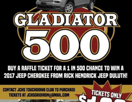 JCHS Football Raffle to win 2017 Jeep Cherokee from Rick Hendrick Jeep in Duluth
