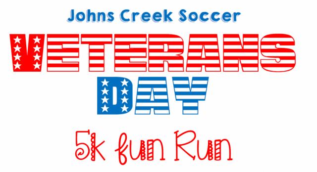 1st Annual Johns Creek Soccer Veteran's Day 5K