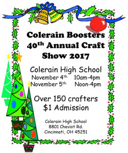 2017 Colerain Craft Show flyer