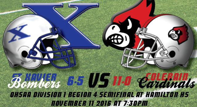 Playoff Preview:  Game 2 – #1 Colerain (11-0) vs. #5 St. Xavier (6-5)