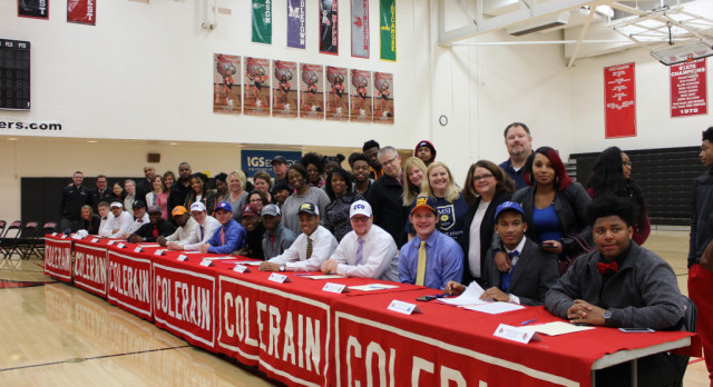 Colerain hosts 2017 Winter Signing/National Letter of Intent Day