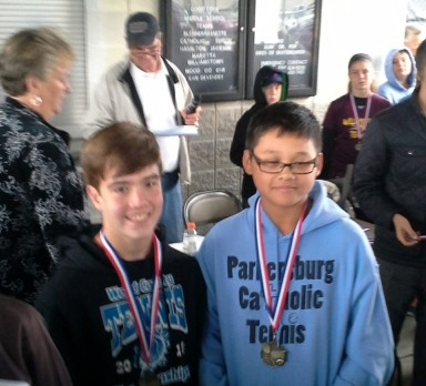 Middle School #3 Doubles Captures County Championship