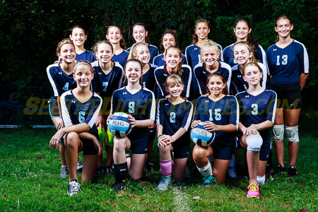 Middle School Volleyball defeats Blennerhassett