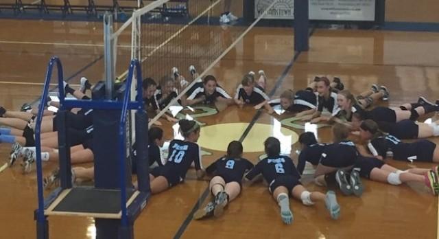 Middle School Volleyball on Win Streak