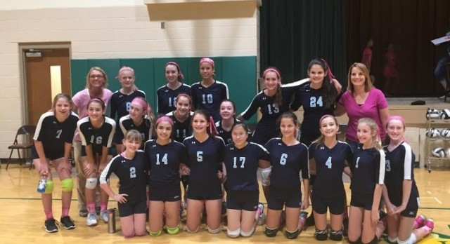 Middle School Volleyball on to Finals!