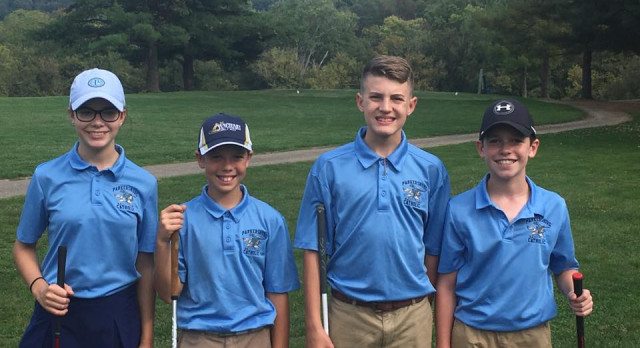 Middle School Golf Second in Scramble