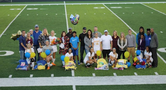 Lady Knights send Seniors out with a W
