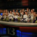 Guerin Catholic Varsity Cheerleaders at WTHR 13- Cheerleaders of the Week