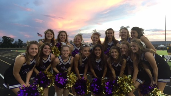 Cheer - group with sunset