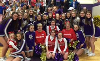 GCHS Cheerleaders and Special Olympic Cheerleaders