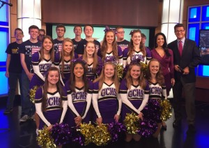 Cheerleaders, Band & Anchors - WISH TV 2016