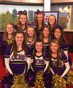 Cheerleaders on WISH TV 2016