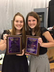Lexi & Jeanne with awards