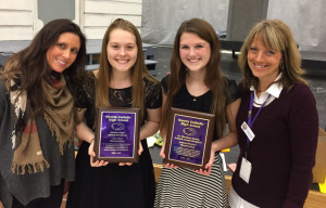 Coaches, Lexi & Jeanne with awards