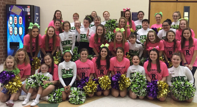GCHS Cheerleaders host Special Olympics Cheerleaders for Champions Together Night