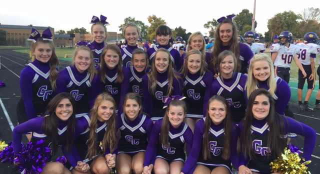 Guerin Catholic Cheerleaders at Broad Ripple