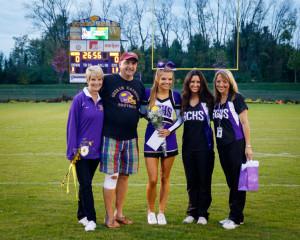 Senior night - Morgan, coaches & parents