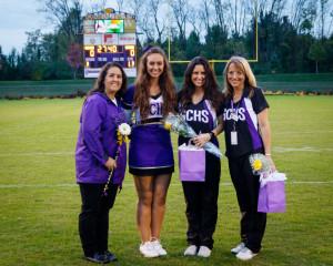 Senior night - Sophia, Camile, Steph & I